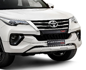 Stylish Front Bumper and TRD Radiator Grille Garnish