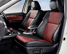 Sporty Black and Maroon Leather Seats Interiors with Red Stitch Accents