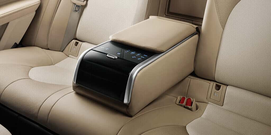 Camry Touch Screen Controls on Rear Armrest