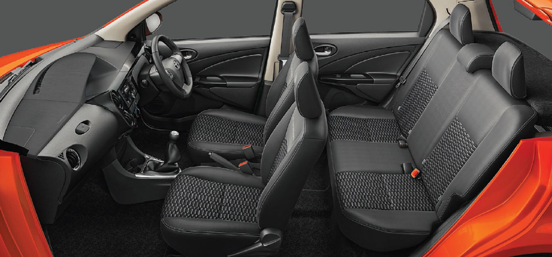 Ergonomic Seats with Rear-Center Headrest