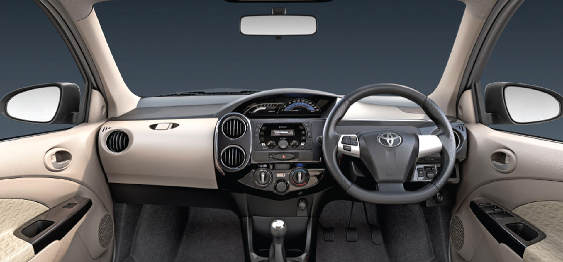 Instrument Panel with Piano Black Finish