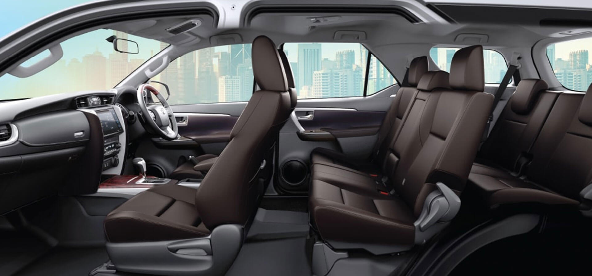 Toyota Fortuner Interior Middle Row