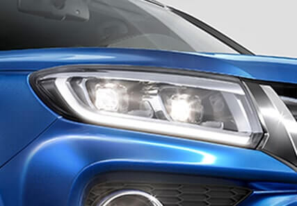Dual-Chamber LED Projector Headlamps with Chrome Accents