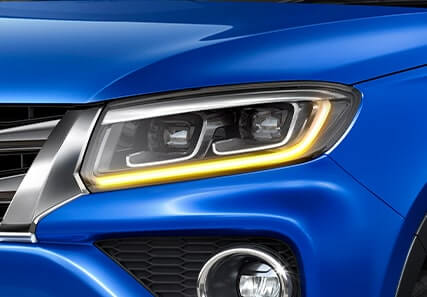 Dual Function LED DRL & Turn Indicator in Headlamps