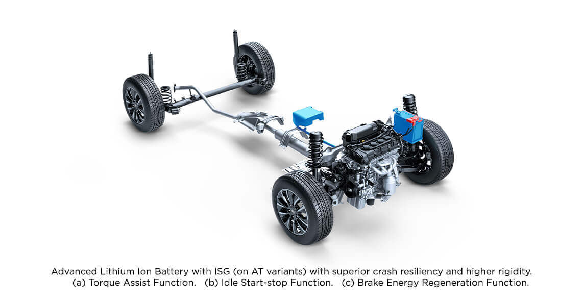 AT variants with advance Li-ion battery with ISG - Toyota Urban Cruiser