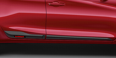 Side Moulding with Sporty Red Accent