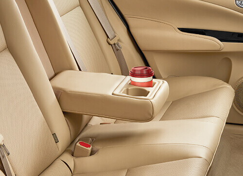REAR ARMREST WITH CUP HOLDERS